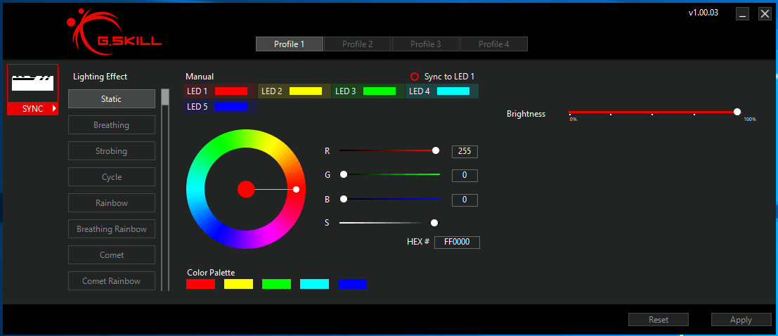 Trident Z Royal Lighting Control_Trident Z RGB
