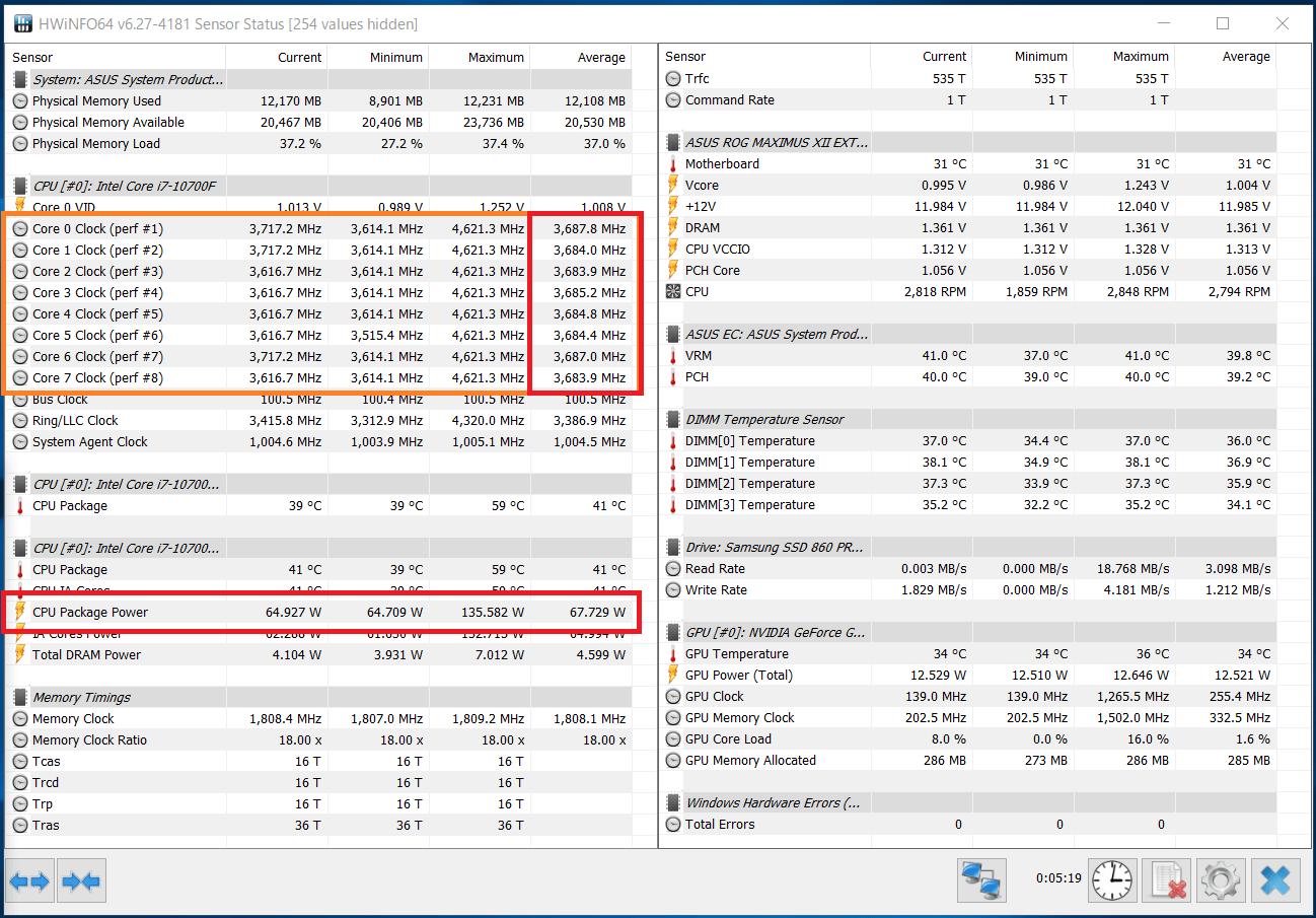 Intel Core i7 10700F_Boost-Clock_multi_PL1