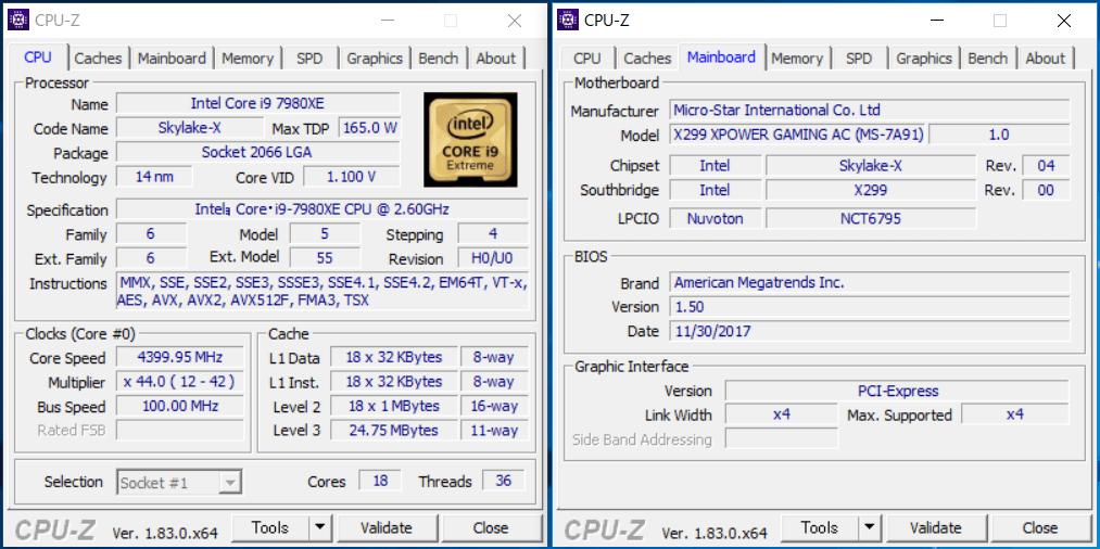 MSI X299 XPOWER GAMING AC_OC Test (1)