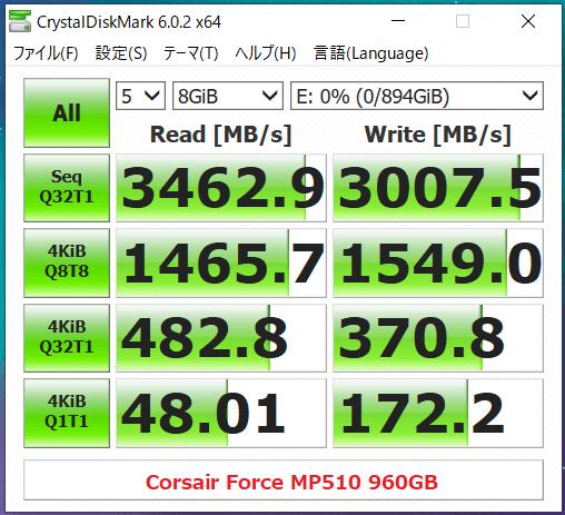 Corsair Force MP510 960GB_CDM
