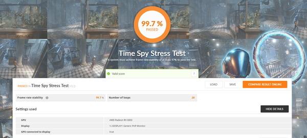 AMD Radeon RX 6800_TimeSpy Stress Test