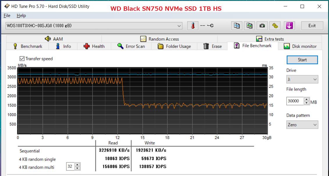 WD Black SN750 NVMe SSD 1TB HS_HDT