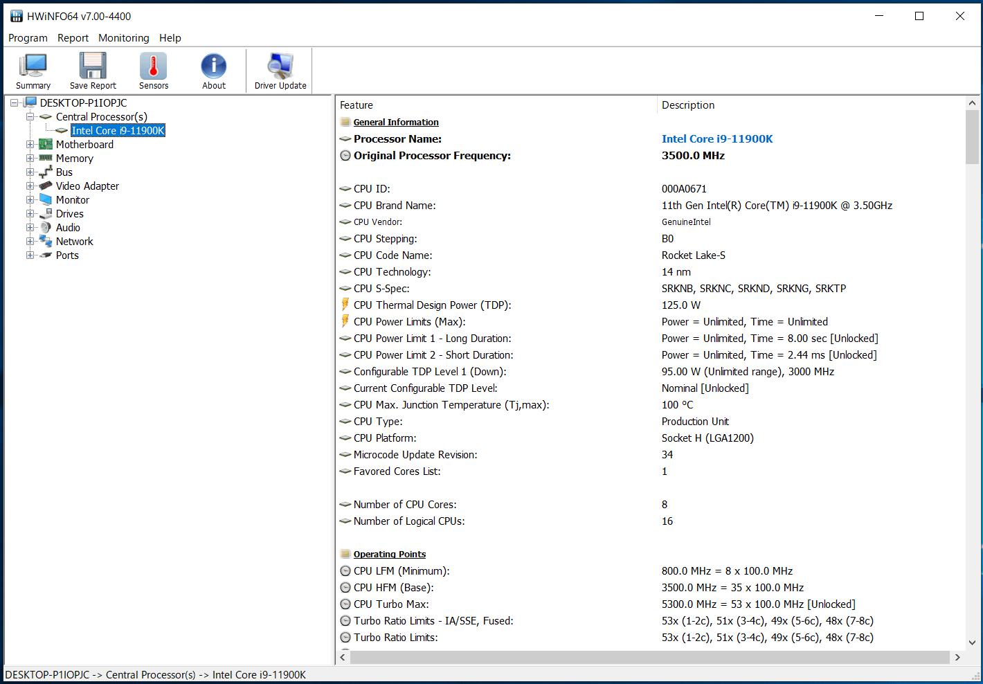 GIGABYTE Z590 AORUS ULTRA_Core i9 11900K_TDP