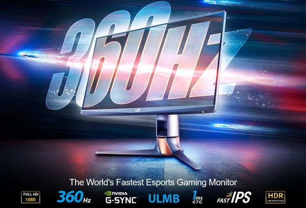 ASUS ROG Swift 360Hz PG259QN_top