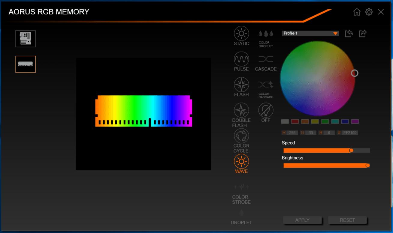 GIGABYTE RGB Fusion_AORUS RGB Memory