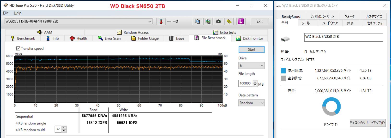 WD Black SN850 2TB_SLC-Cache_600GB-Free