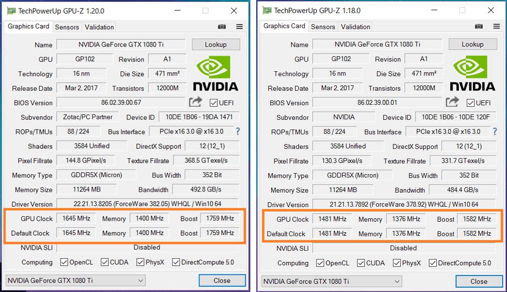 GTX 1080 Ti ref-vs-foc