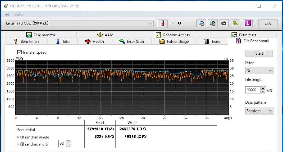 Lexar NM620 2TB_SLC-cache