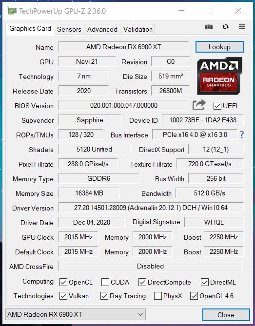 SAPPHIRE NITRO+ Radeon RX 6900 XT_Silent_GPU-Z (1)