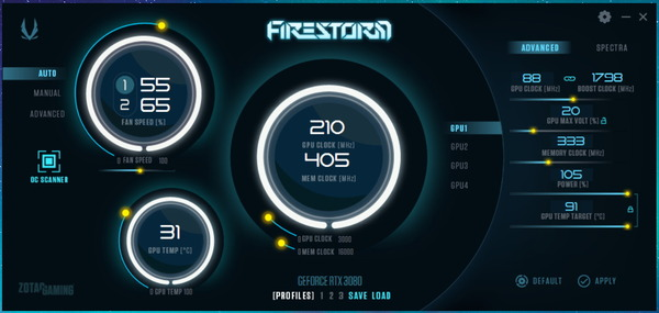 ZOTAC GAMING GeForce RTX 3080 Trinity_FireStorm_OC