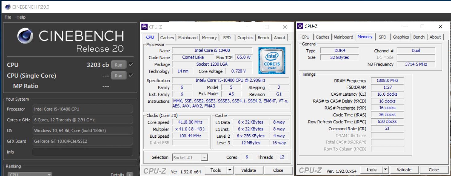 Intel Core i5 10400_cinebench-R20