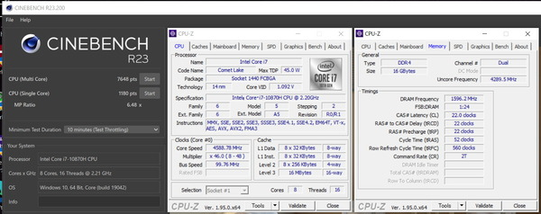 MSI GS66 Stealth_Core i7 10870H_CinebenchR23
