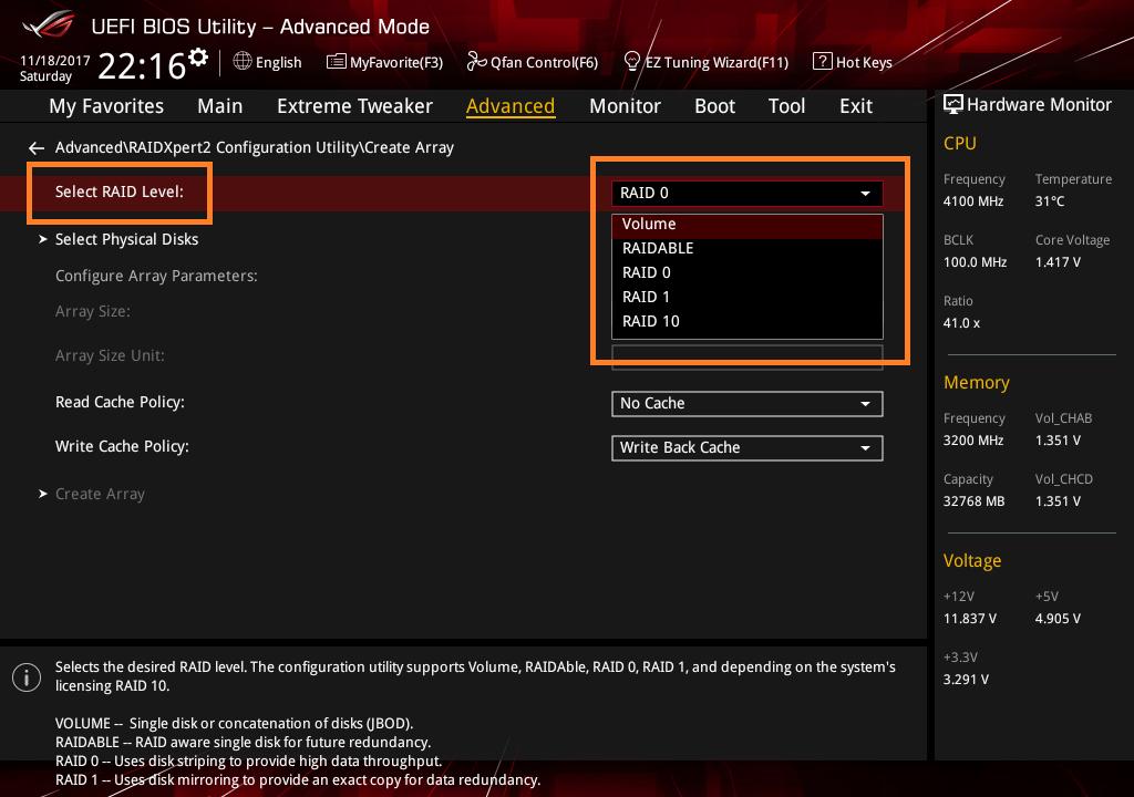 Threadripper NVMe RAID アレイ構築_10-1