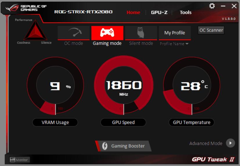ASUS GPU Tweak II_Gaming MODE