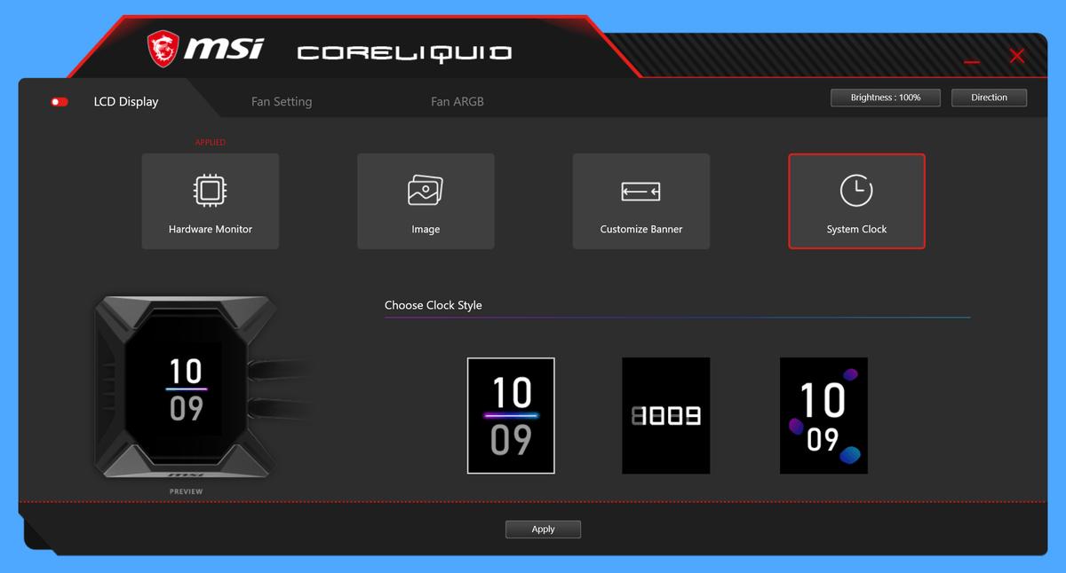 MSI MPG CORELIQUID K360_LCD-Display_7