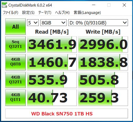 WD Black SN750 1TB HS_CDM