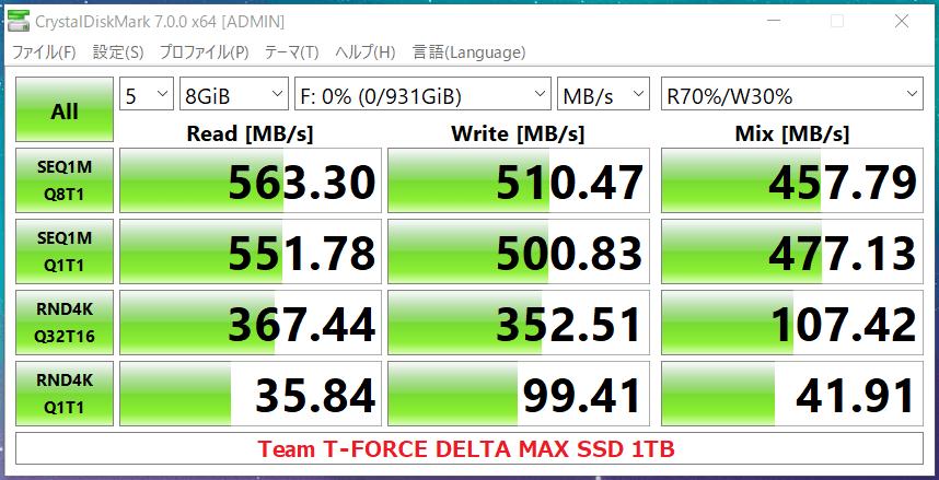 Team T-FORCE DELTA MAX SSD 1TB_CDM7