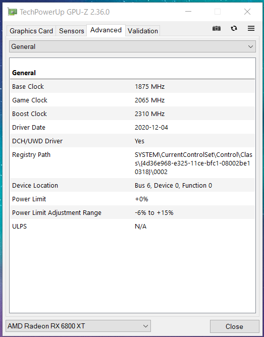 ASRock RX 6800 XT Phantom Gaming D 16G OC_GPU-Z (2)