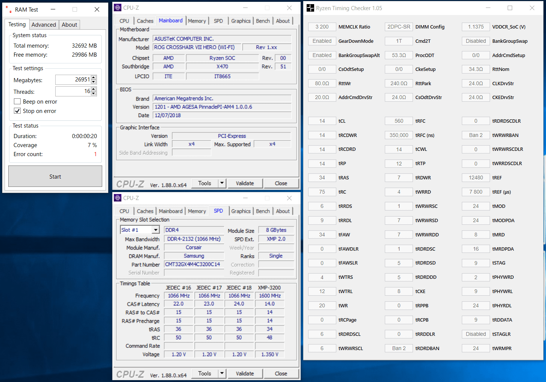 CMT32GX4M4C3200C14_OC_Ryzen 7 2700X_X470_fail