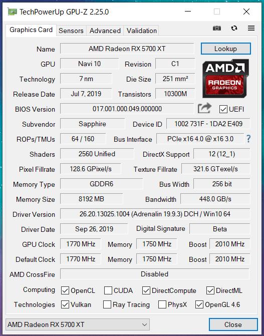 SAPPHIRE NITRO+ Radeon RX 5700 XT_perf_GPU-Z (1)