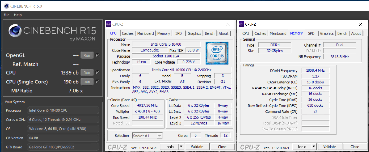 Intel Core i5 10400_cinebench-R15