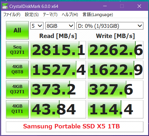 Samsung Portable SSD X5 1TB_CDM