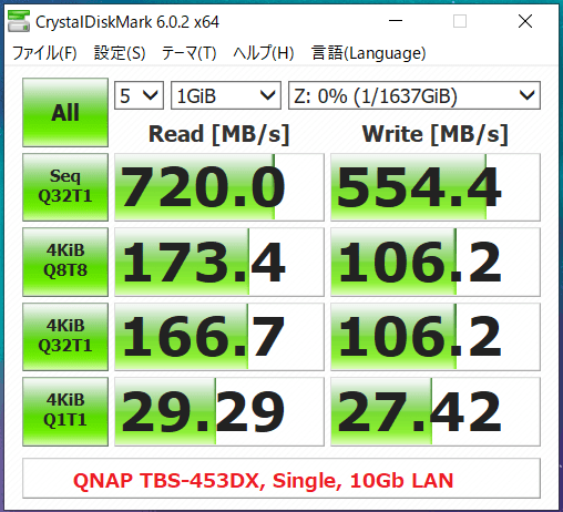 QNAP TBS-453DX_Single_10Gb LAN