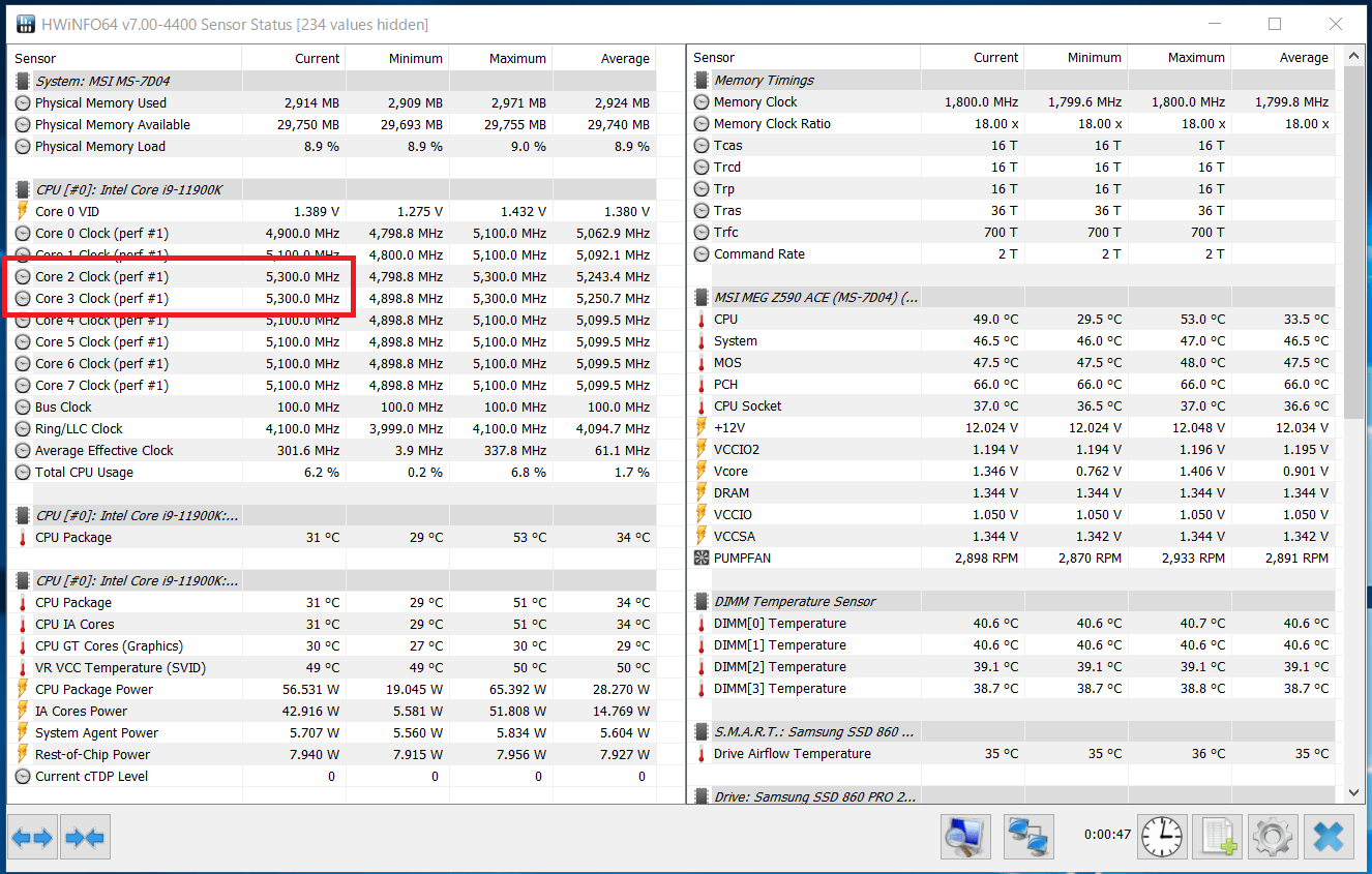 Intel Core i9 11900K_Boost-Clock_Single