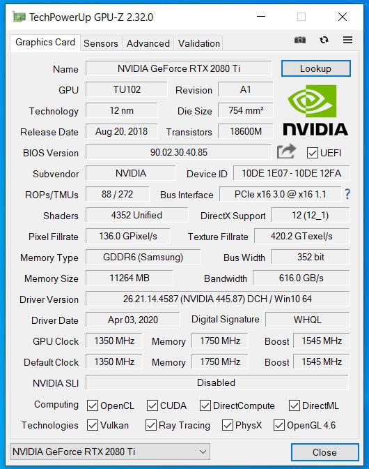 G-Master Hydro Z490_RTX 2080 Ti_GPU-Z (1)
