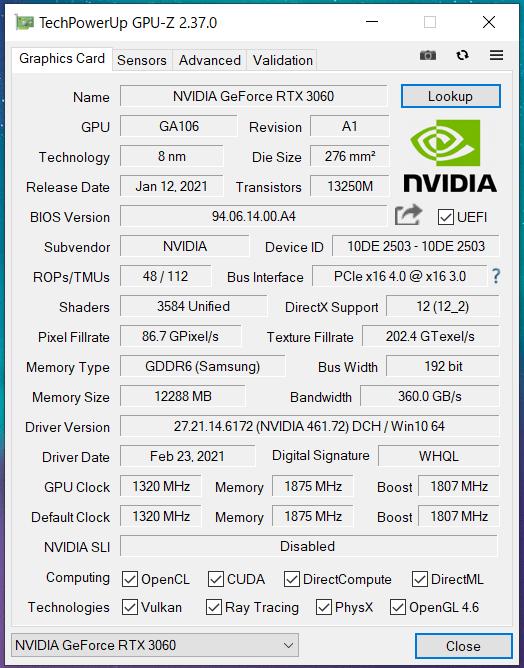 Palit GeForce RTX 3060 StormX OC 12GB_GPU-Z (1)