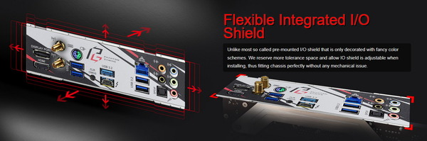 ASRock Z490 Phantom Gaming ITX_TB3_Flexible Integrated IO Shield