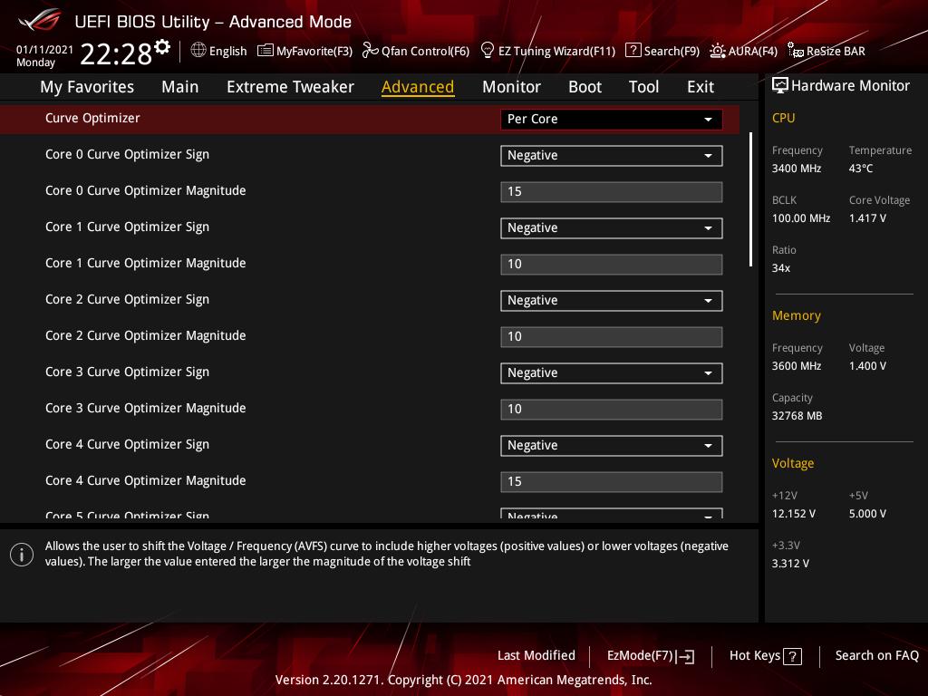 ASUS ROG Crosshair VIII Dark Hero_OC Test_BIOS (3)