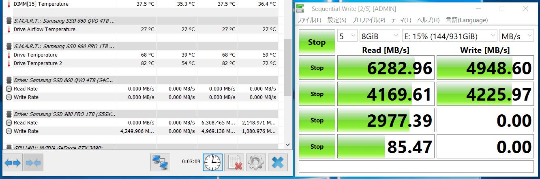 NVMe SSD_temp test