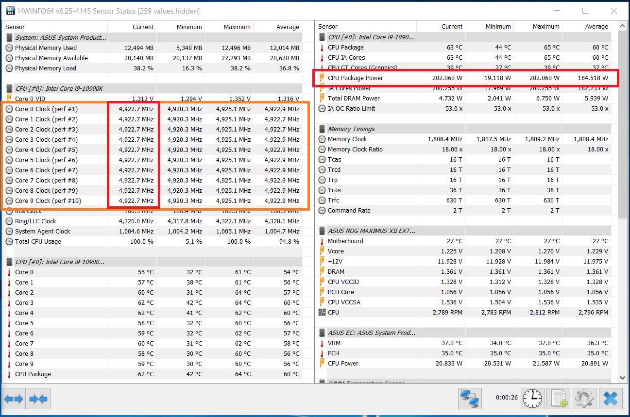 Intel Core i9 10900K_Boost-Clock_multi_PL2