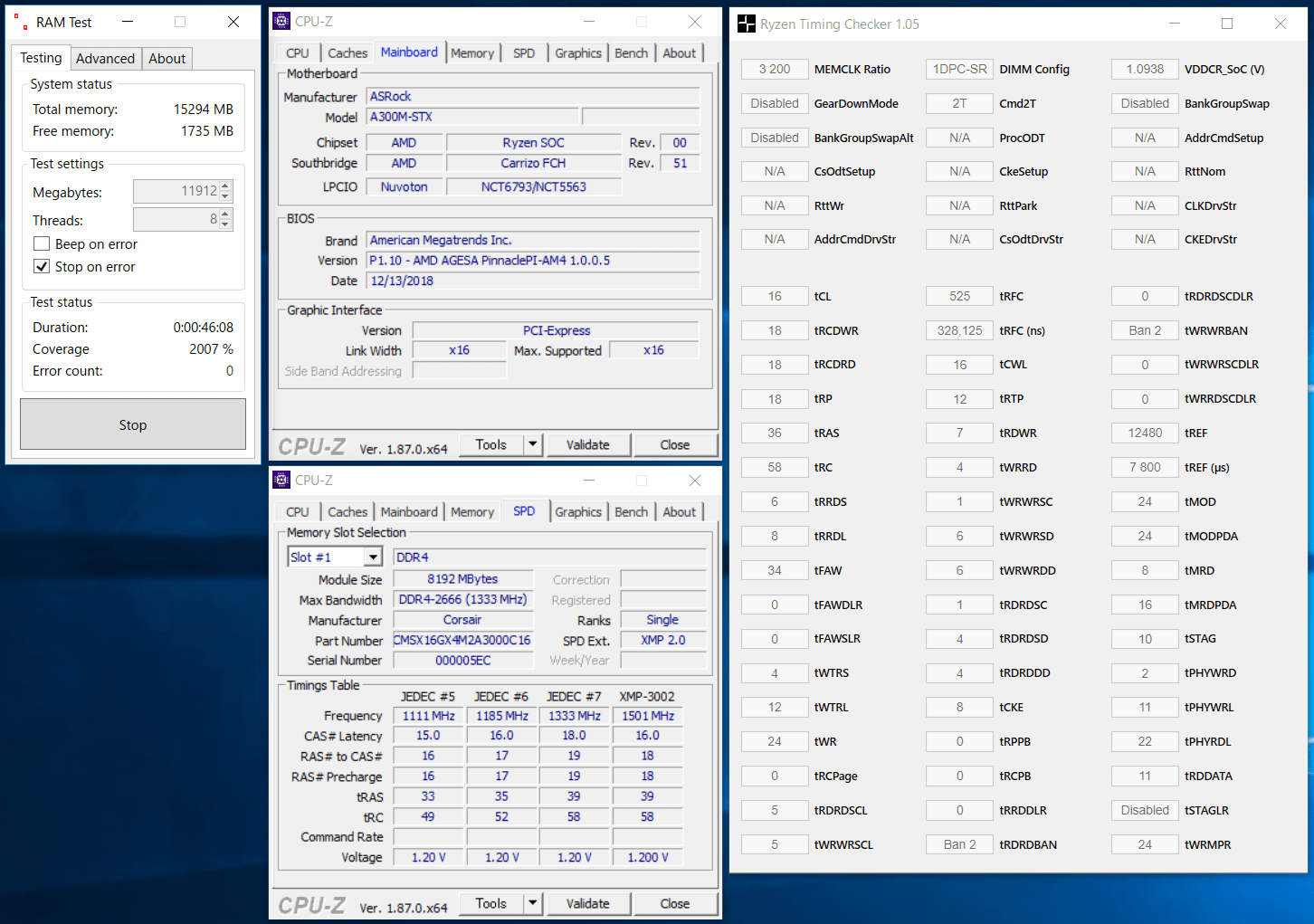 Ryzen 5 2400G_CMSX16GX4M2A3000C16
