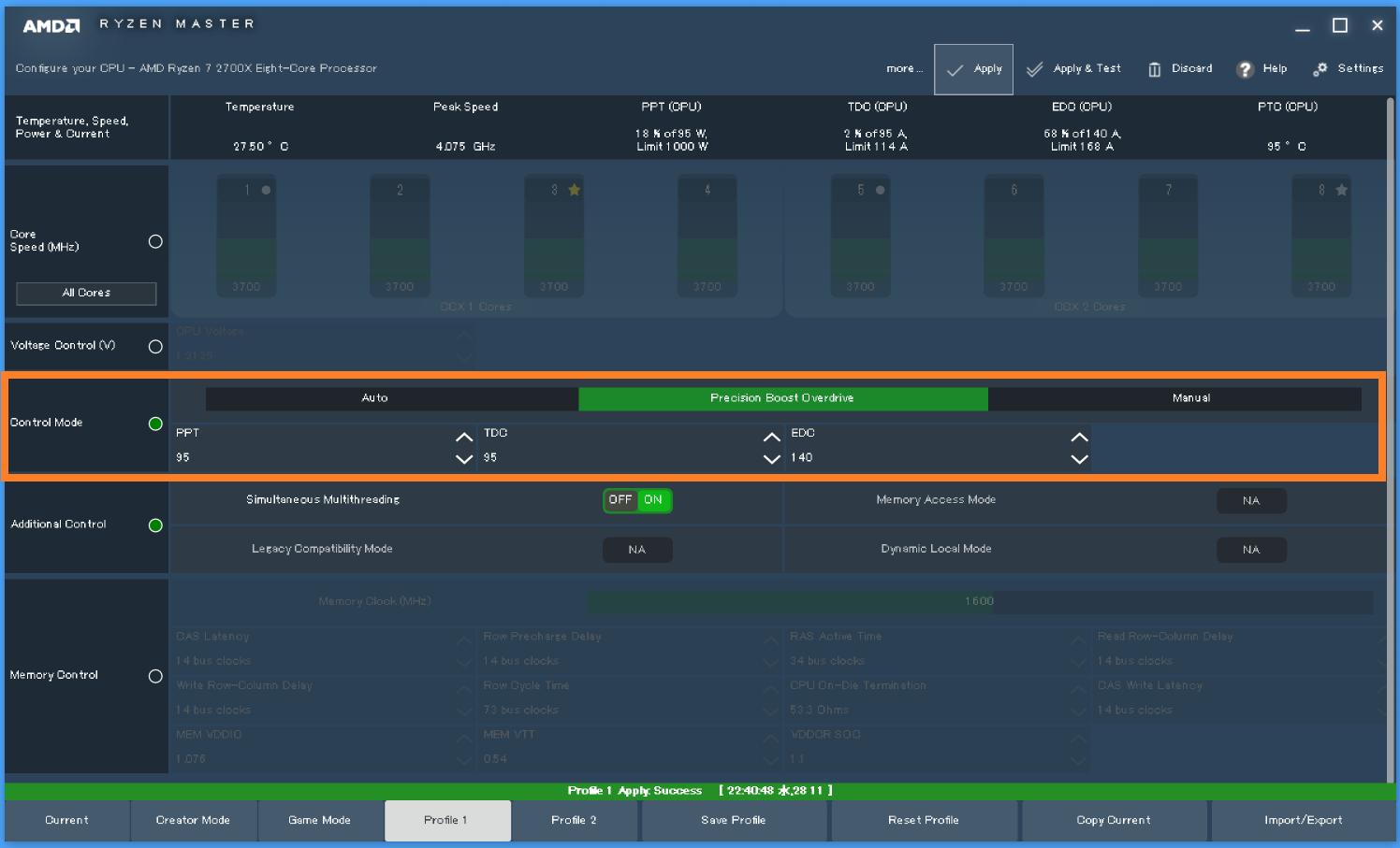 AMD AM4(X470)_TDP