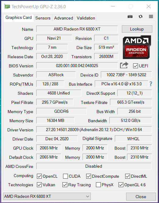 ASRock RX 6800 XT Phantom Gaming D 16G OC_GPU-Z (1)