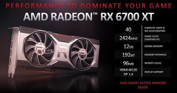Radeon RX 6700 XT BTO