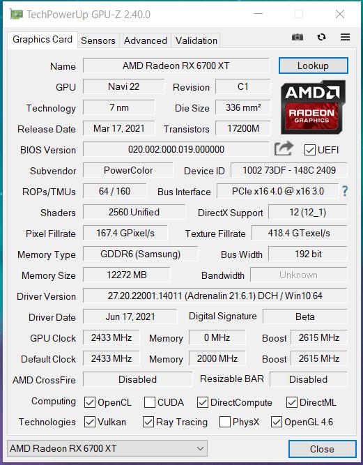 PowerColor Red Devil Radeon RX 6700 XT_Silent_GPU-Z (1)