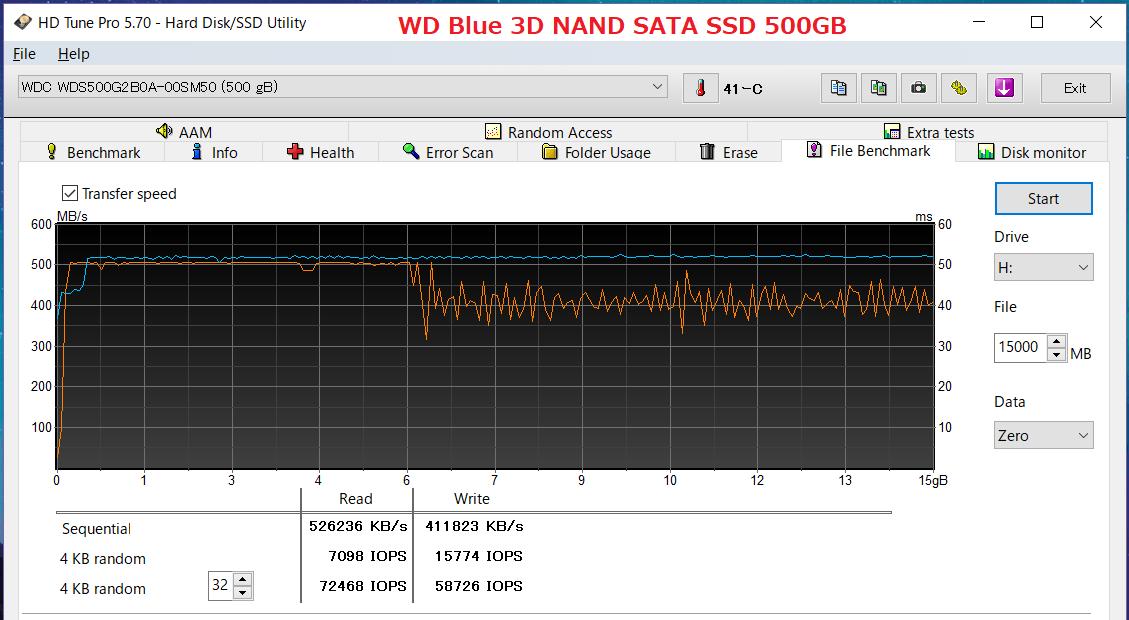 WD Blue 3D NAND SATA SSD 500GB_HDT 15GB