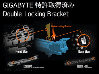 GIGABYTE Double Locking Bracket