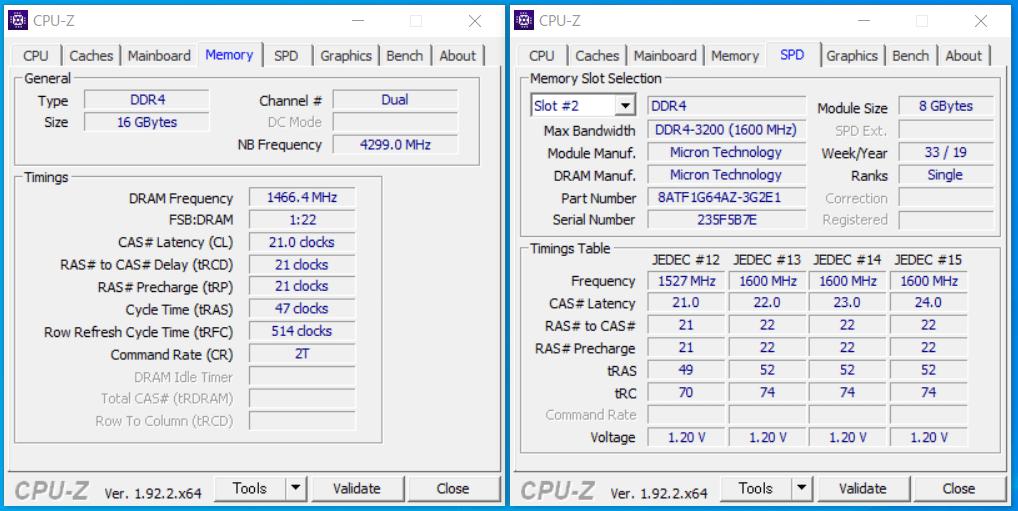 G-Master Hydro Z490_Memory_CPU-Z