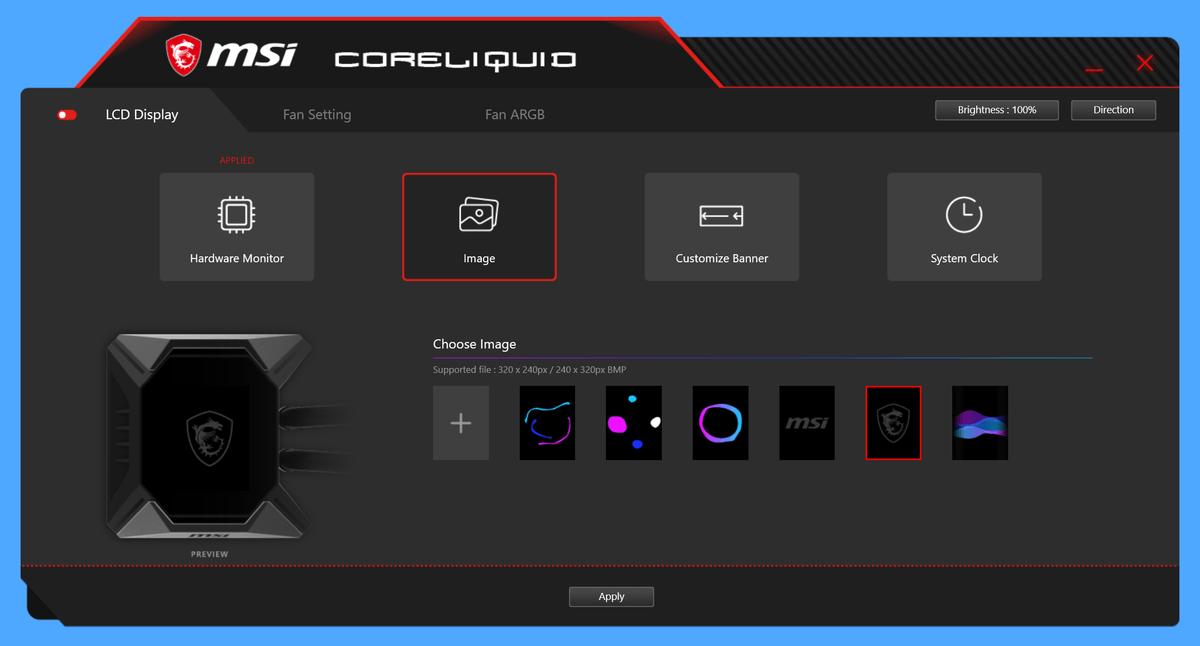MSI MPG CORELIQUID K360_LCD-Display_4