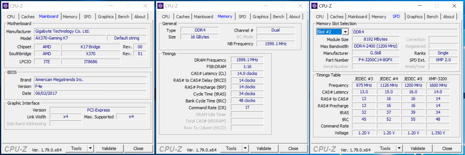 G.Skill FLARE X_XMP3200_GIGABYTE_K7