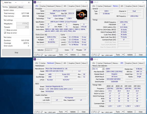 HyperX FURY RGB DDR4 HX432C16FB3AK2-16_AMD X570_XMP