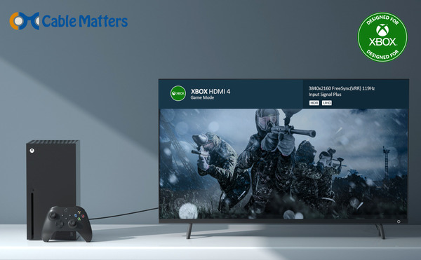 Cable Matters Active 8K HDMI Fiber Optic Cable_Designed For Xbox