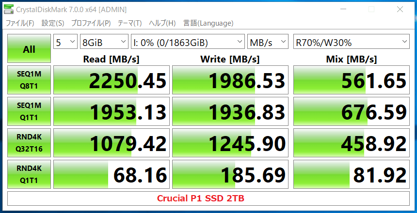 Crucial P1 SSD 2TB_CDM7