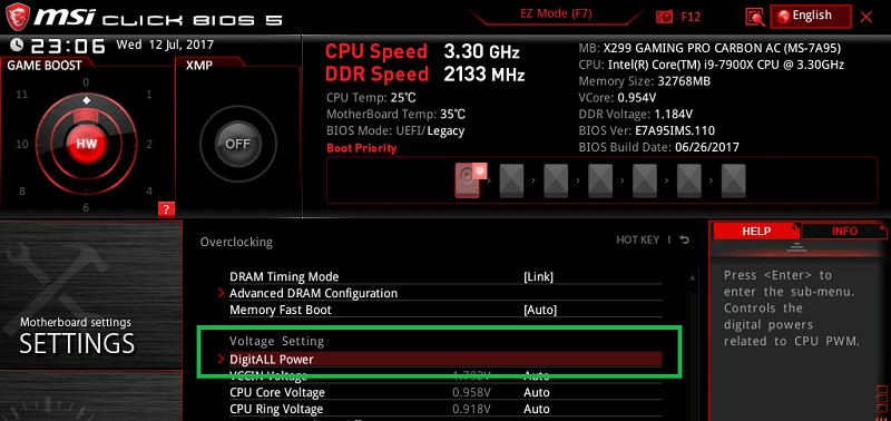 MSI X299 GAMING PRO CARBON AC_BIOS_OC_17