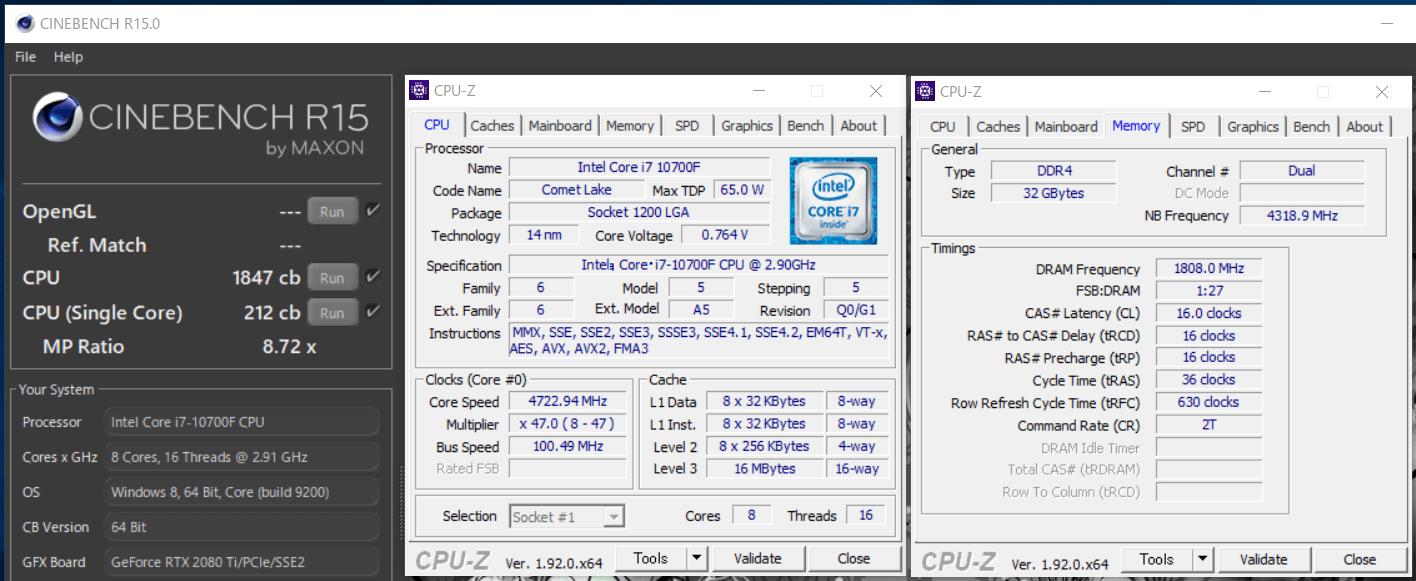 Intel Core i7 10700F_cinebench-R15