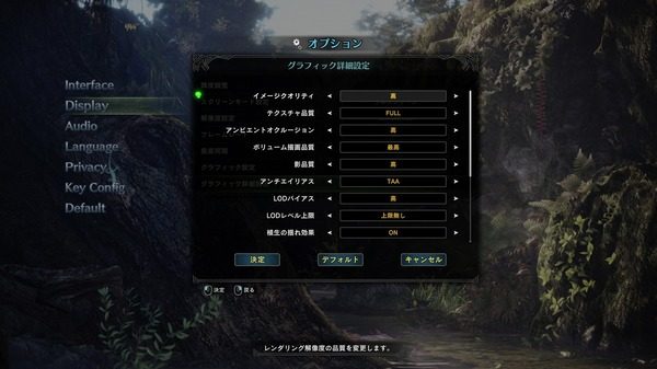 MONSTER HUNTER WORLD PC_graphic setting_2